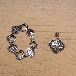 LIA SOPHIA Bracelet + Pendant